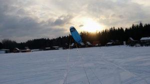 kiting na sněhu
