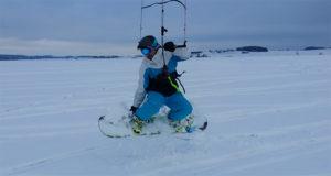 křižanov 2018 snowkiting