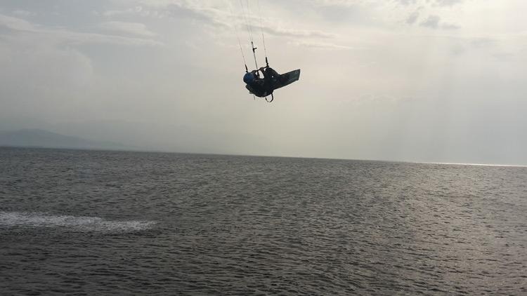 kiteboarding řecko