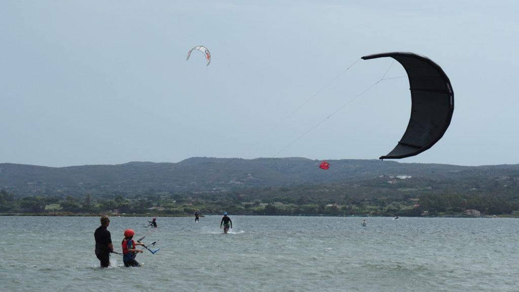 kiteboarding sardinie