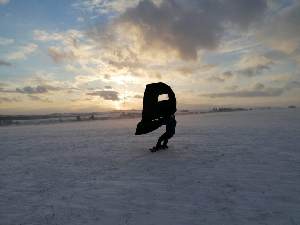 wing v zimě